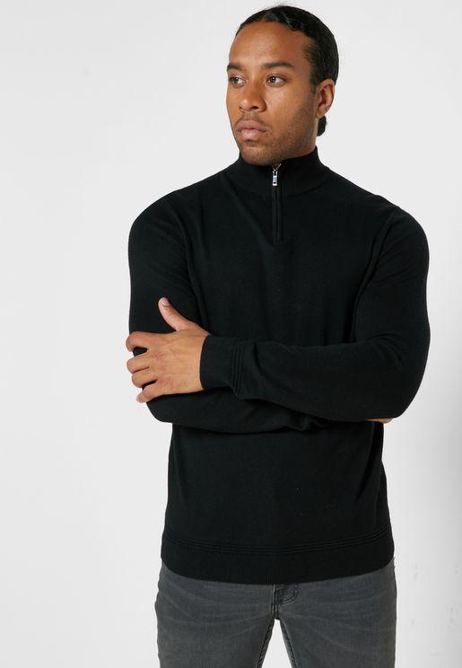 Turtle Neck Half Zip Sweater