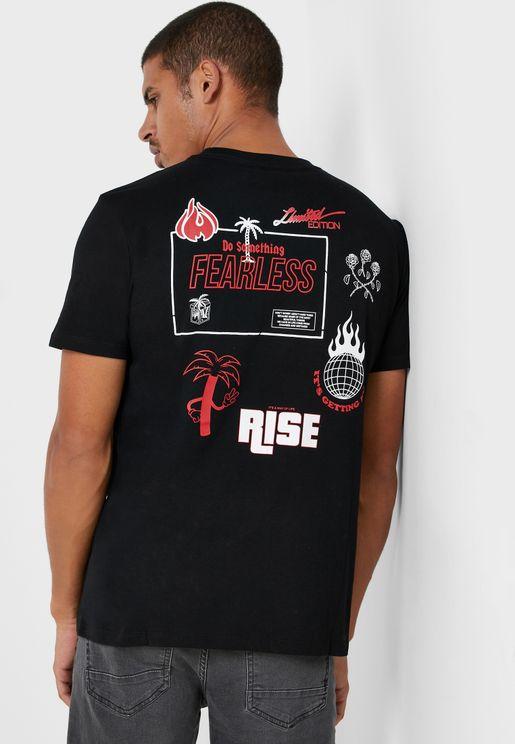 Rose Crew Neck T-Shirt