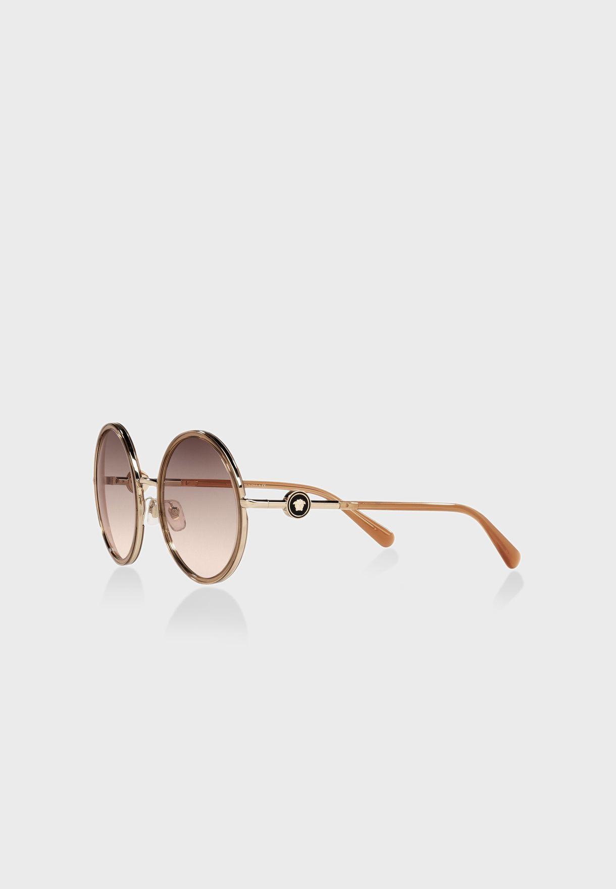0Ve2229 Round Sunglasses