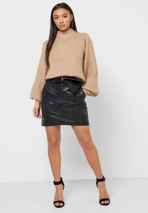 Bodycon Pu Mini Skirt