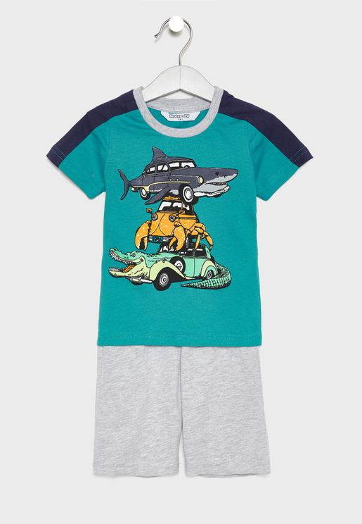 Kids Graphic T-Shirt + Shorts Set
