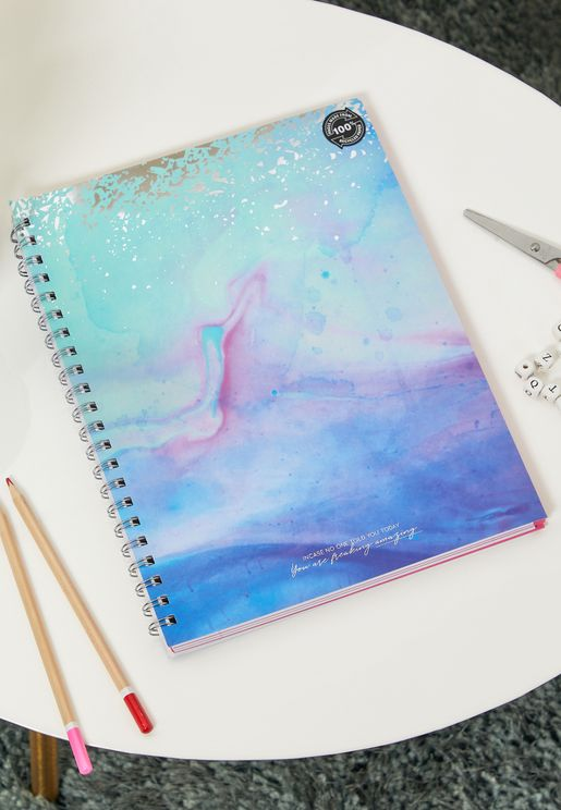 A4 Watercolour Print Notebook