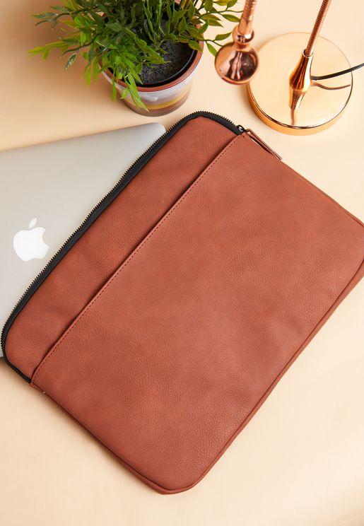 """13"""" Russet Canvas Laptop Case"""