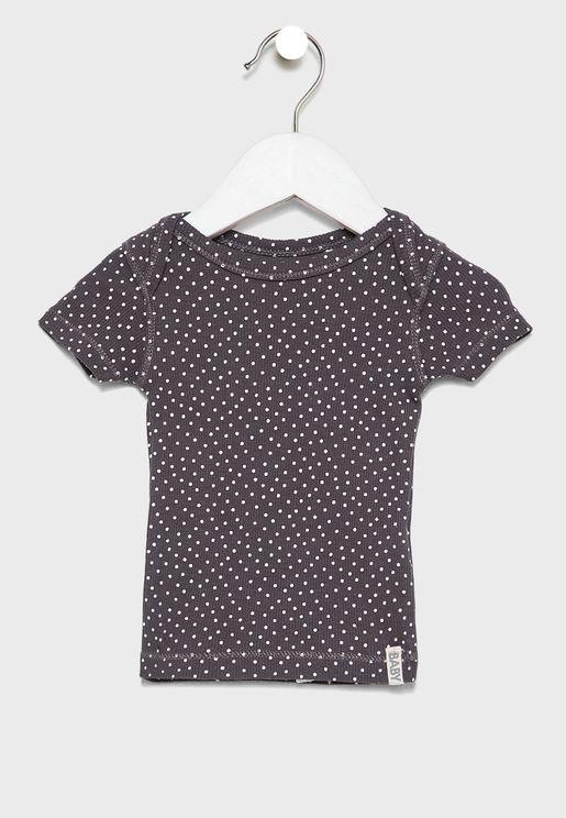 Kids Dot Print T-Shirt