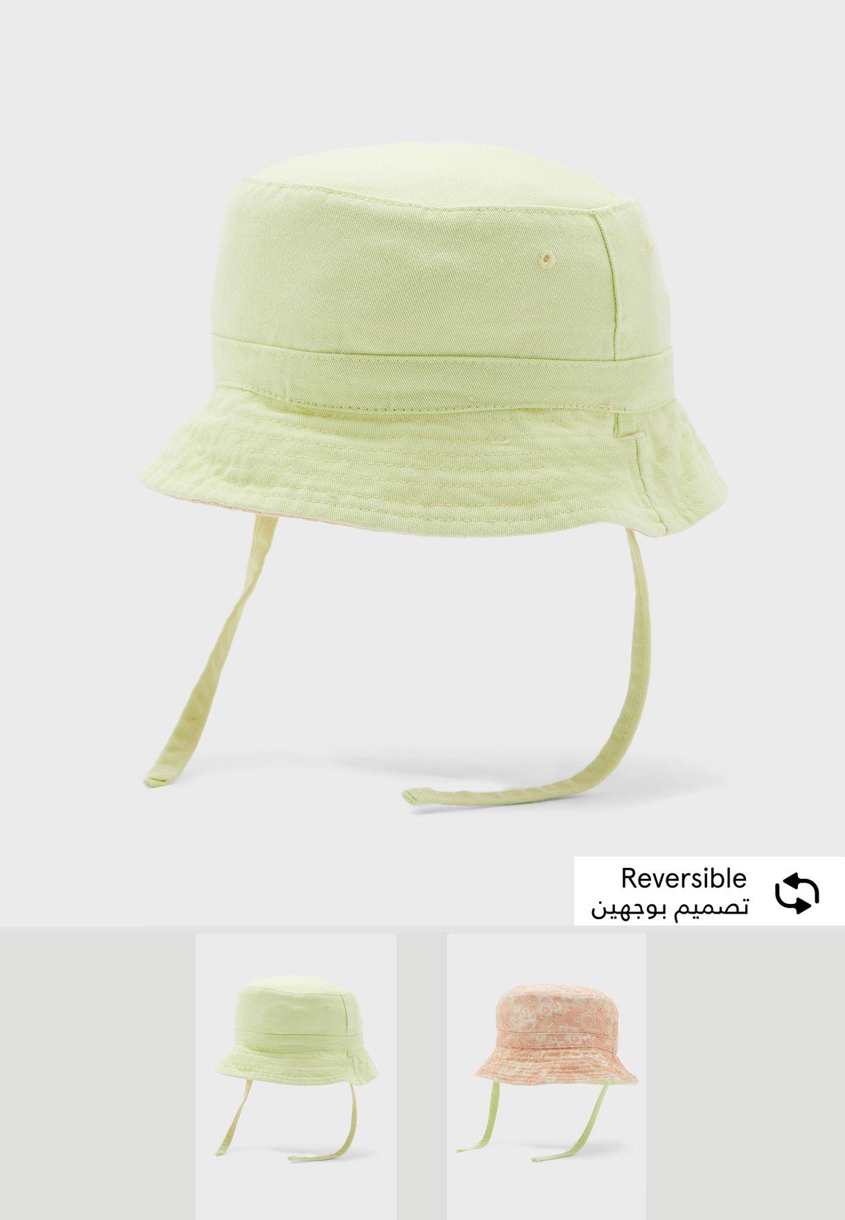 قبعة للاطفال تلبس على الوجهين