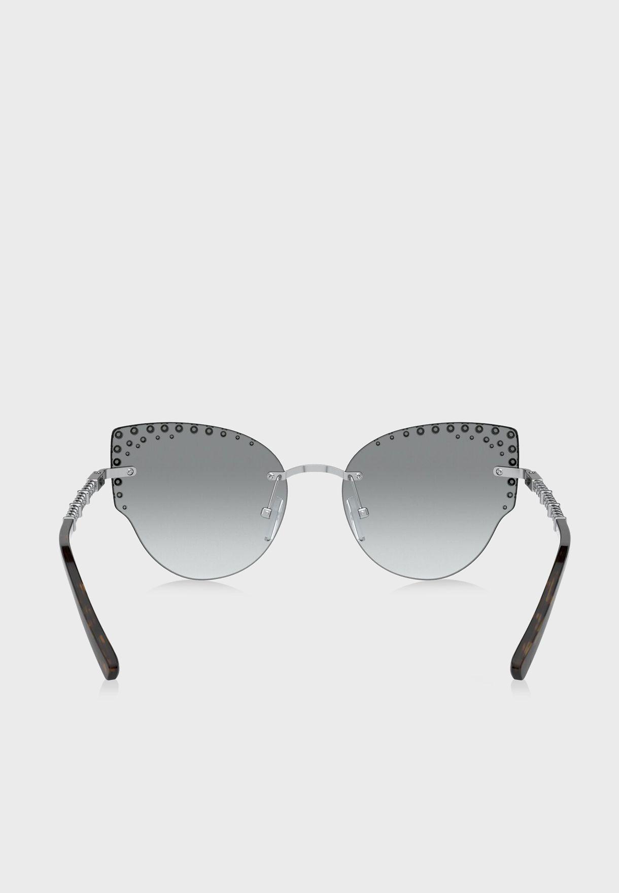 نظارة شمسية عين القطة مرصعة بالكريستال