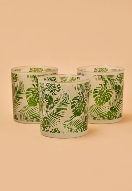 3 Set Botanical Tealight Holder