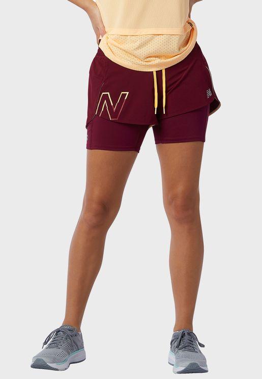Impact Run Printed 2In1 Shorts