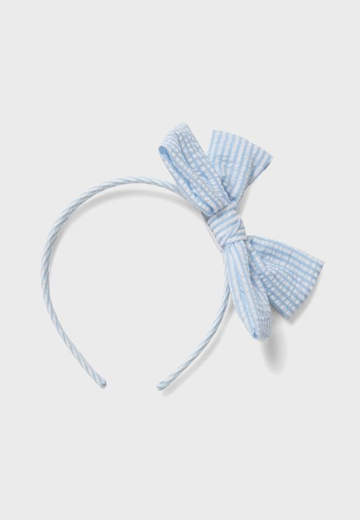 Kids Striped Bow Detail Hairband