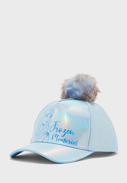 Kids Frozen 2 Pom Cap