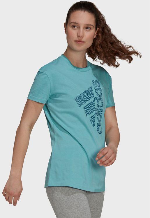 Vertical Zebra Logo Graphic T-Shirt