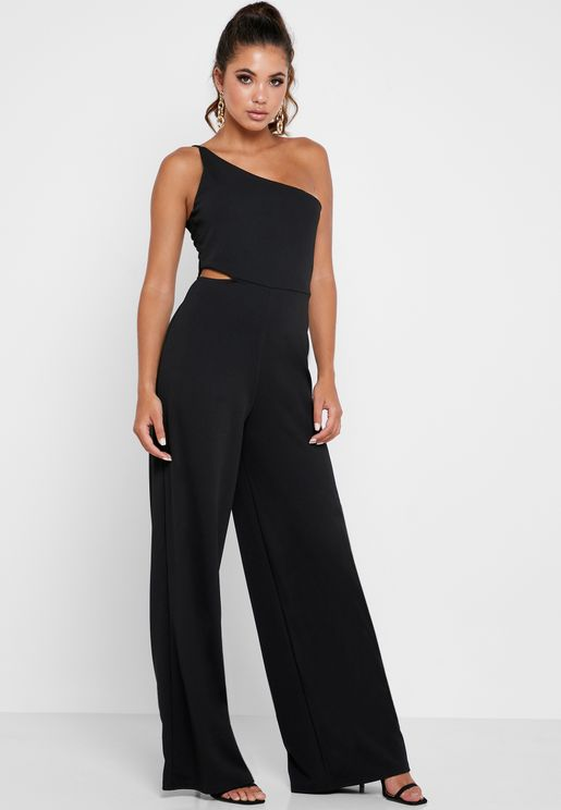 Asymmetric Cut Out Jumpsuit