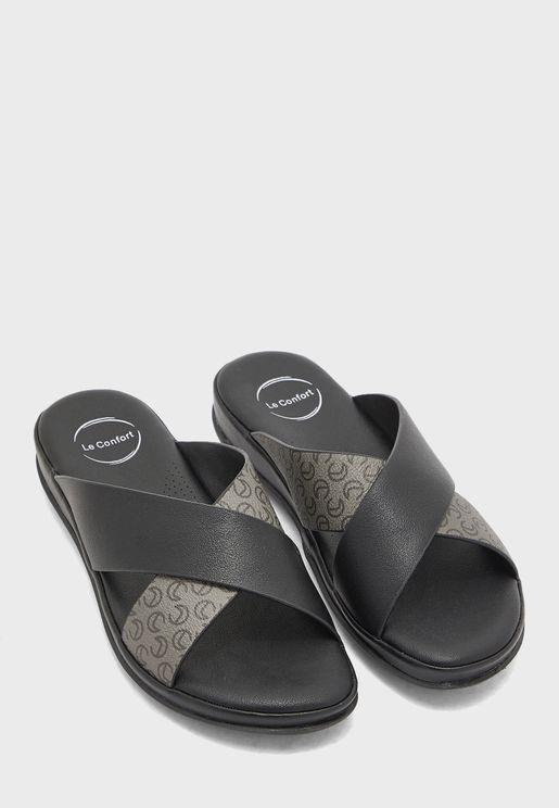 Cross Strap Flat Sandal