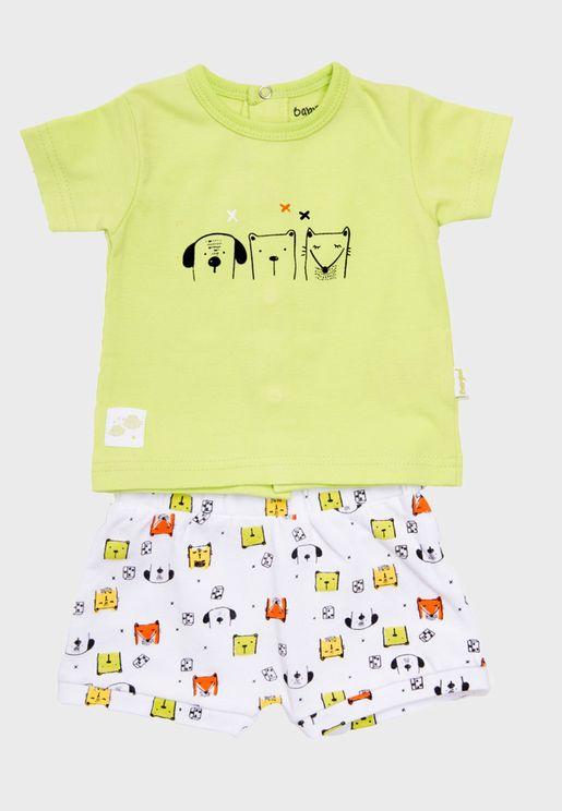 Infant Graphic T-Shirt + Shorts Set