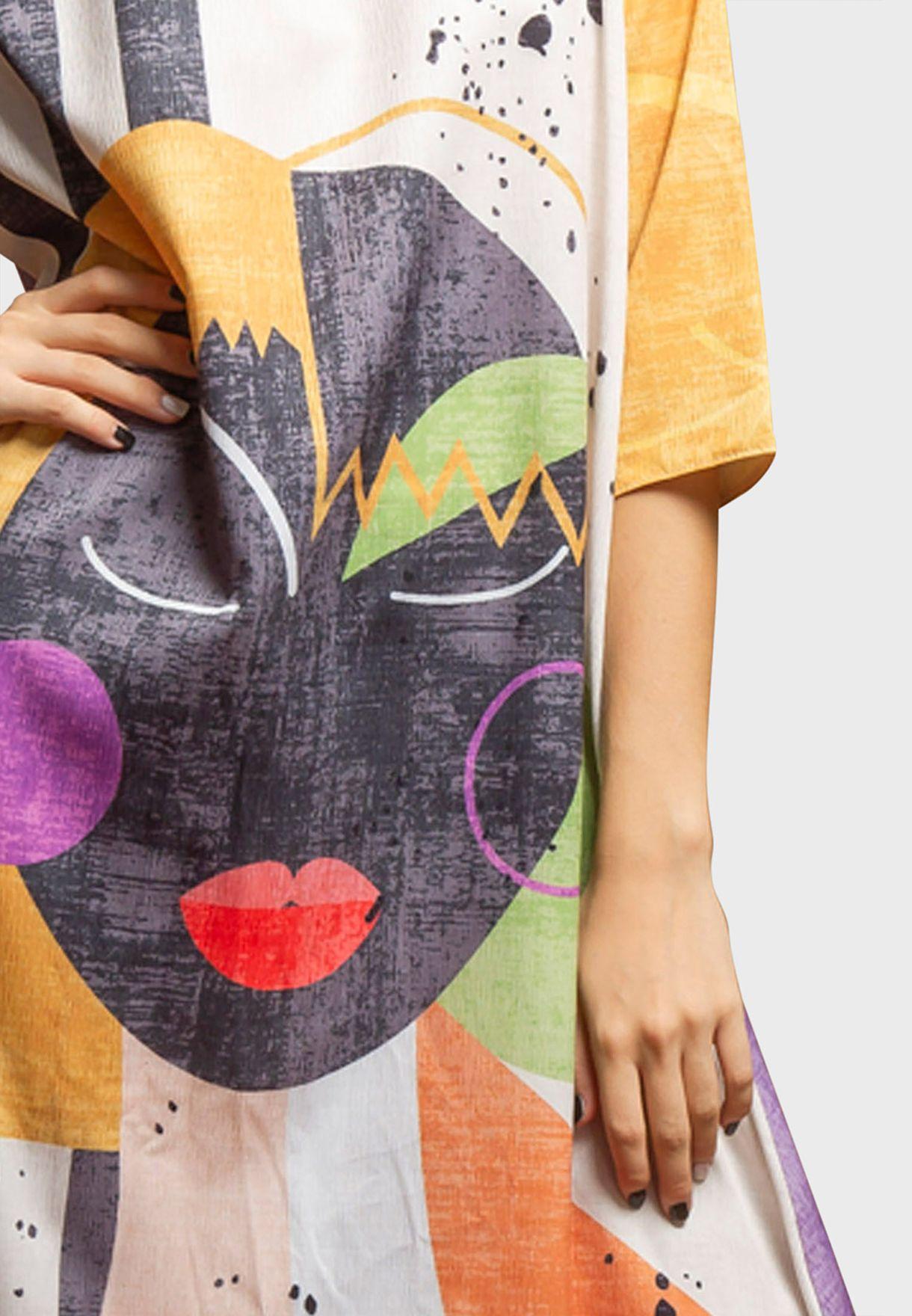 Kids Printed Abaya