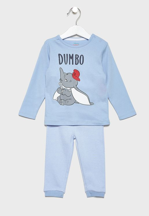 Kids Disney Top + Printed Pyjama Set