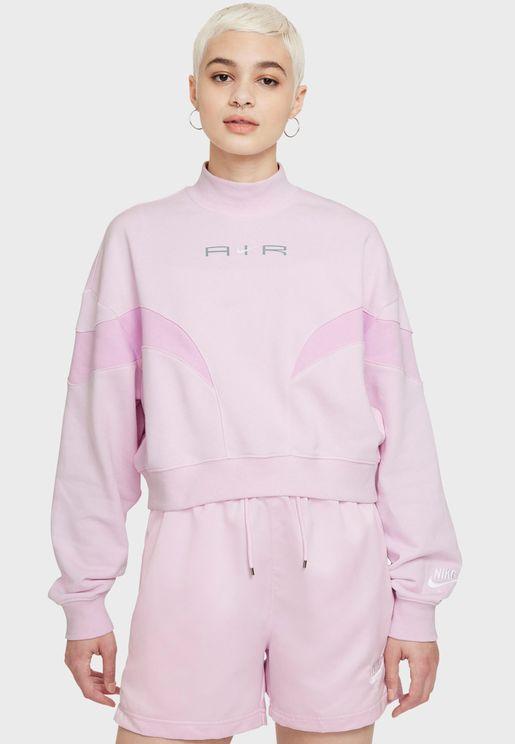 Nsw Air Fleece Mock Neck Sweatshirt