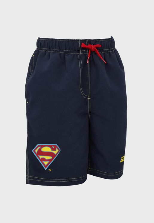"Youth 15"" Superman Swimming Shorts"