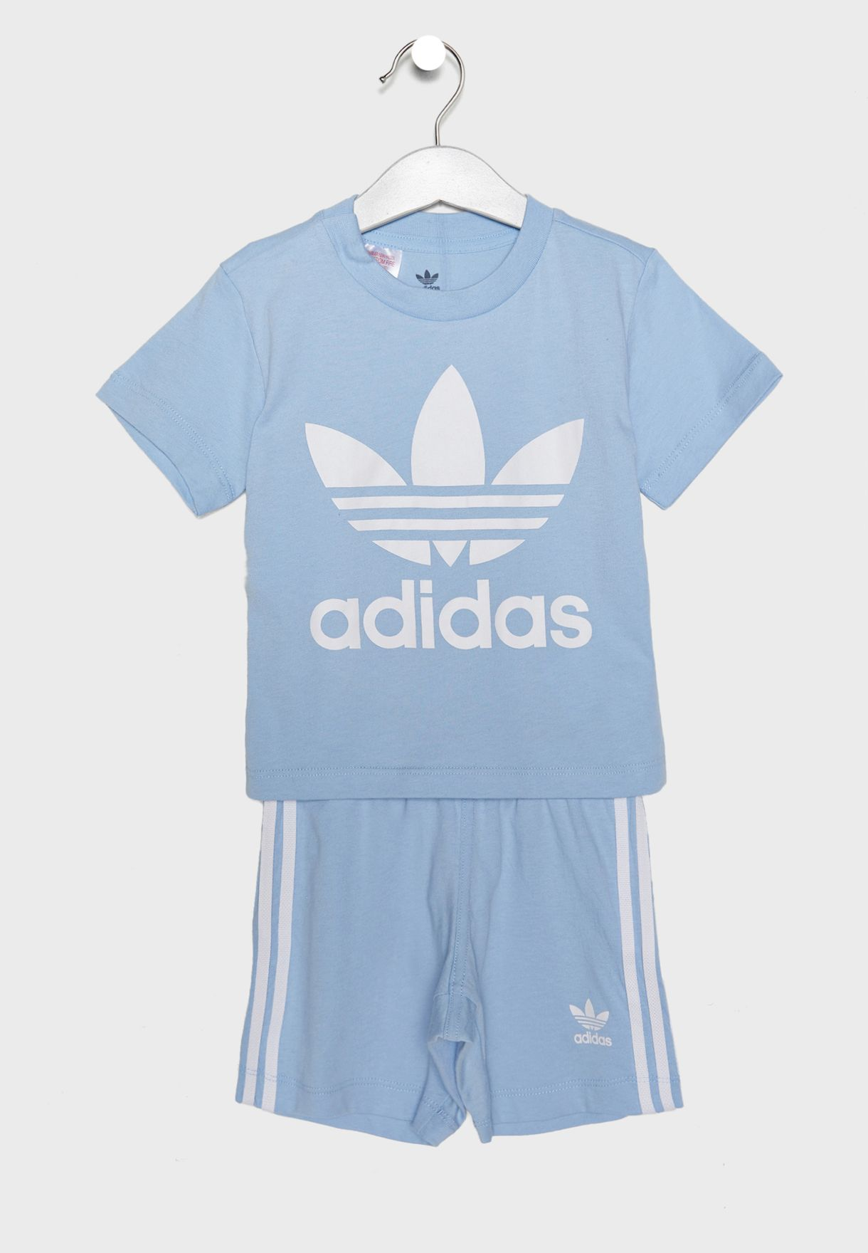 02341f8b8d57 Shop adidas Originals blue Infant Trefoil Set DV2808 for Kids in ...