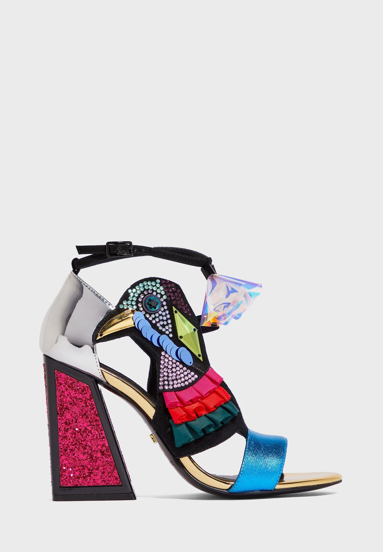 Aya Ankle Strap High Heel Pump