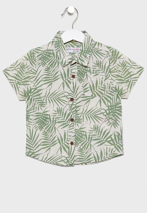 قميص بطباعة ورق شجر