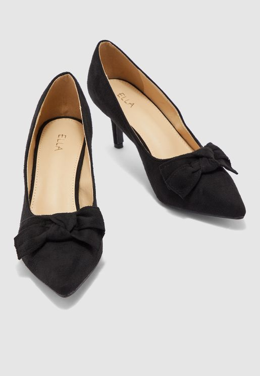 Bow Detail Pointed Toe Pumps