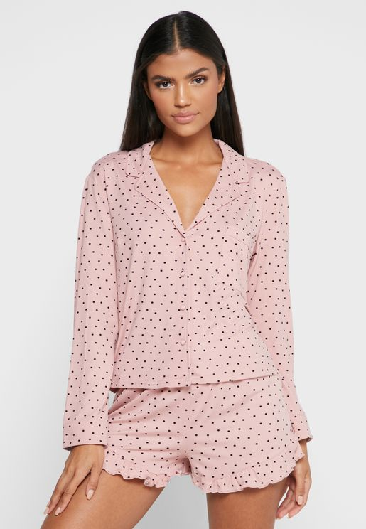 Soft Touch Printed Frill Pyjama Pant