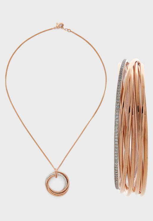 Elegance Bracelet+Necklace Set