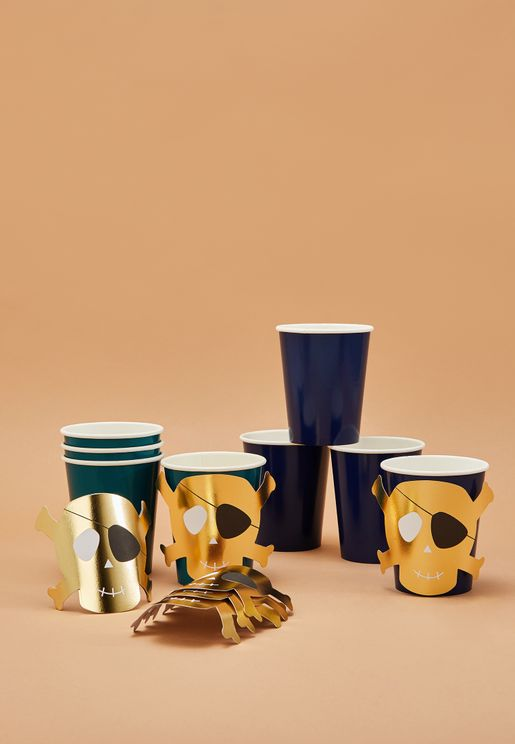 Pirate Party Cups 8 Pack
