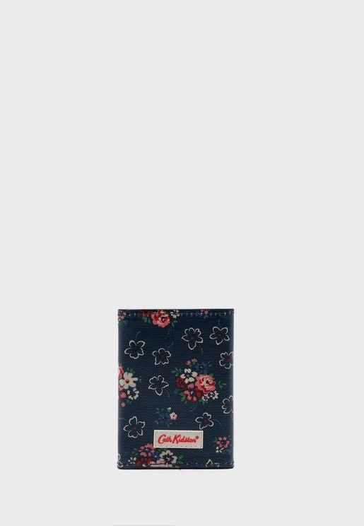 Floral Print Ticket Holder