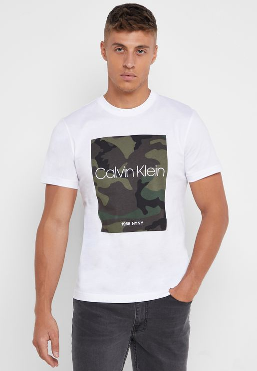 Placement Camouflage Crew Neck  T-Shirt