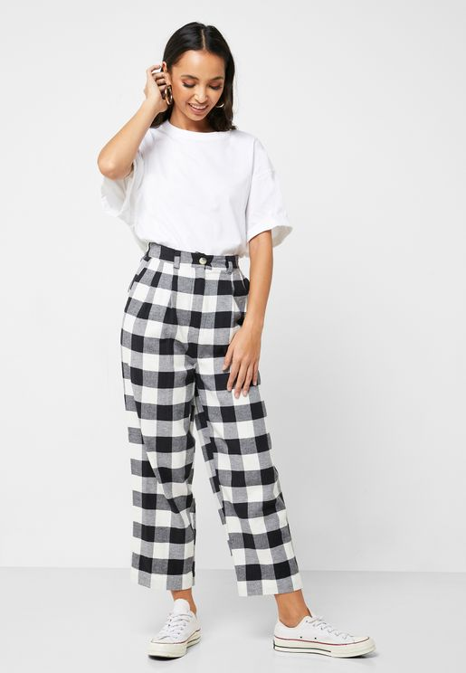 Checked Pants