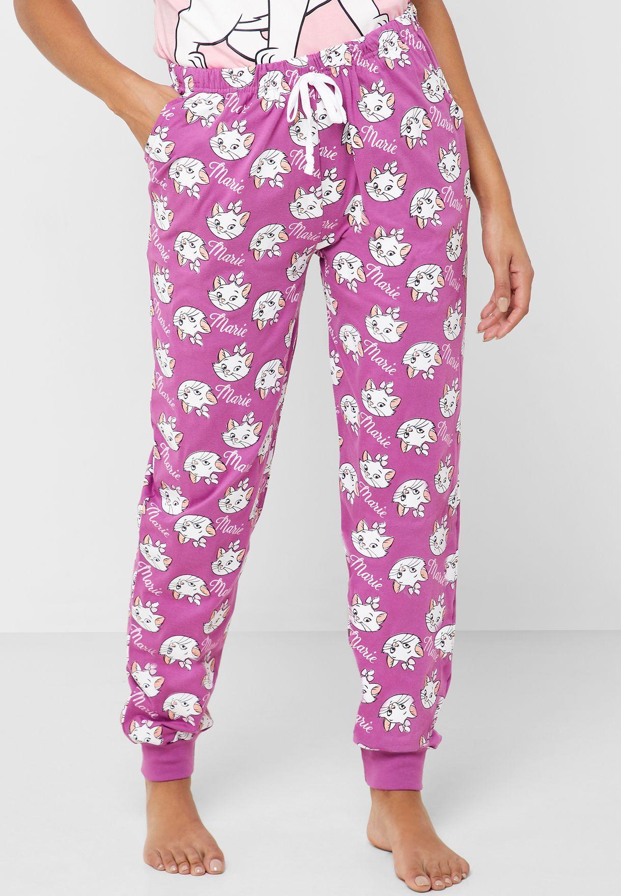 Slogan Graphic T-Shirt & Pyjama Set
