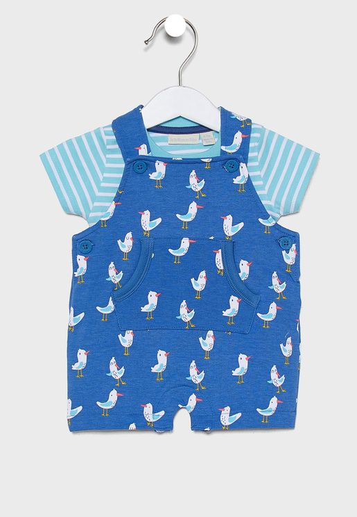 Kids Seagull Dungaree Set