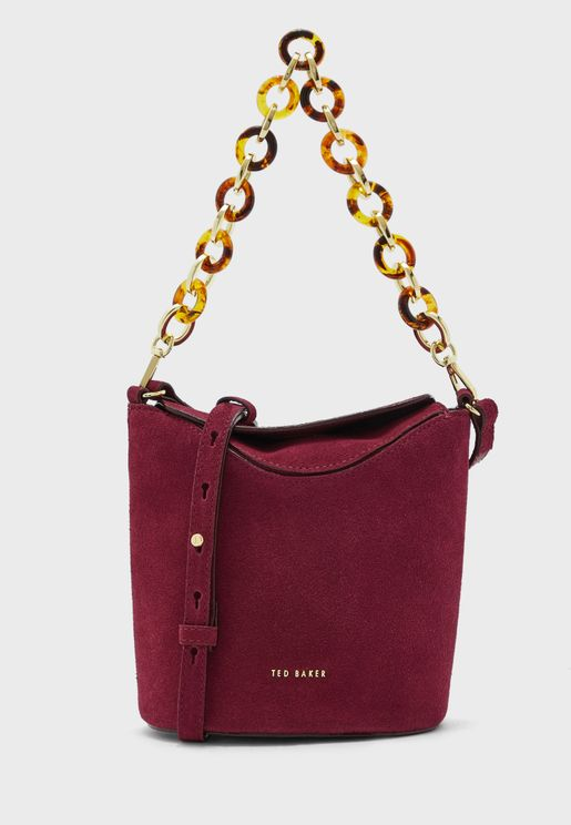 Brookks Resin Chain Mini Bucket Hobo