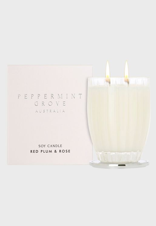 Candle 350g - Red Plum & Rose