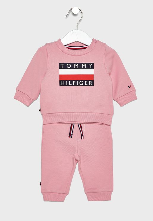 Infant Logo Sweatshirt + Sweatpants Set