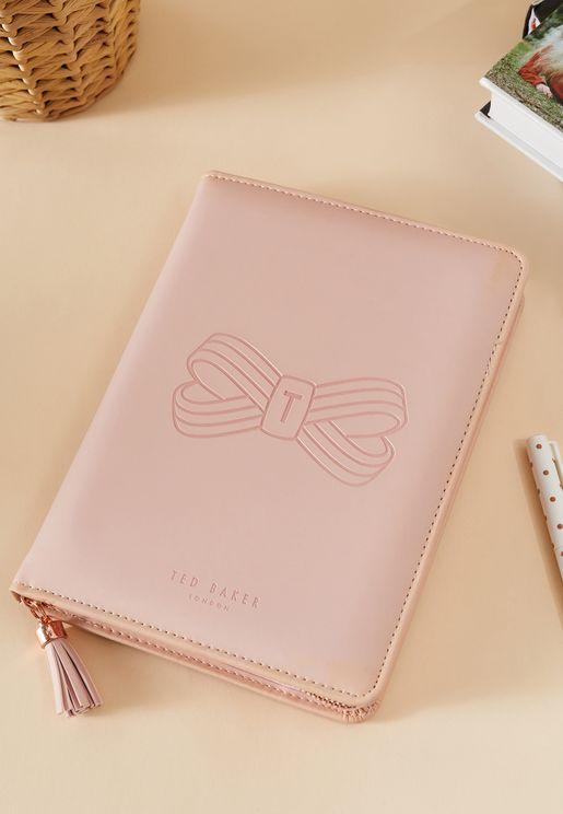 A5 Pink Tassel Folio