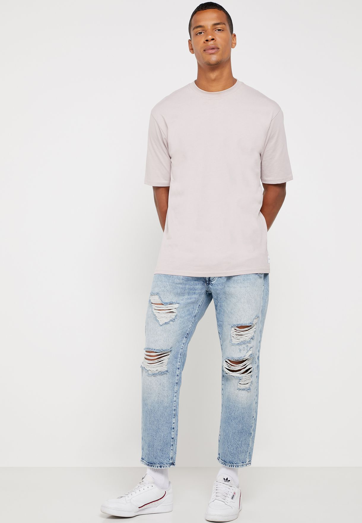 Frank Distressed Slim Fit Jeans