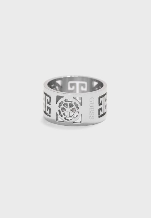 Greek Peony Band Ring