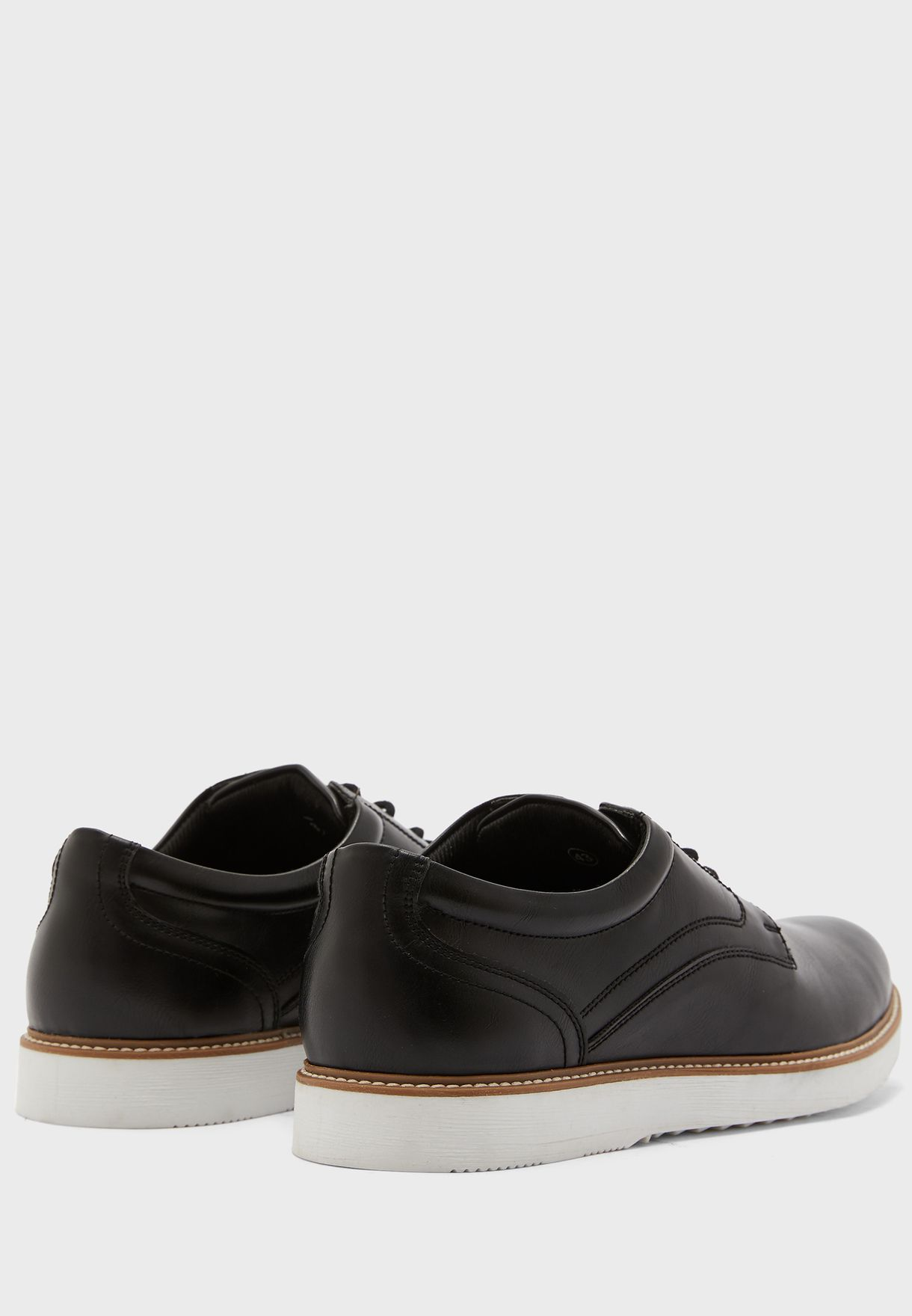 Faux Leather Casual Lace Up