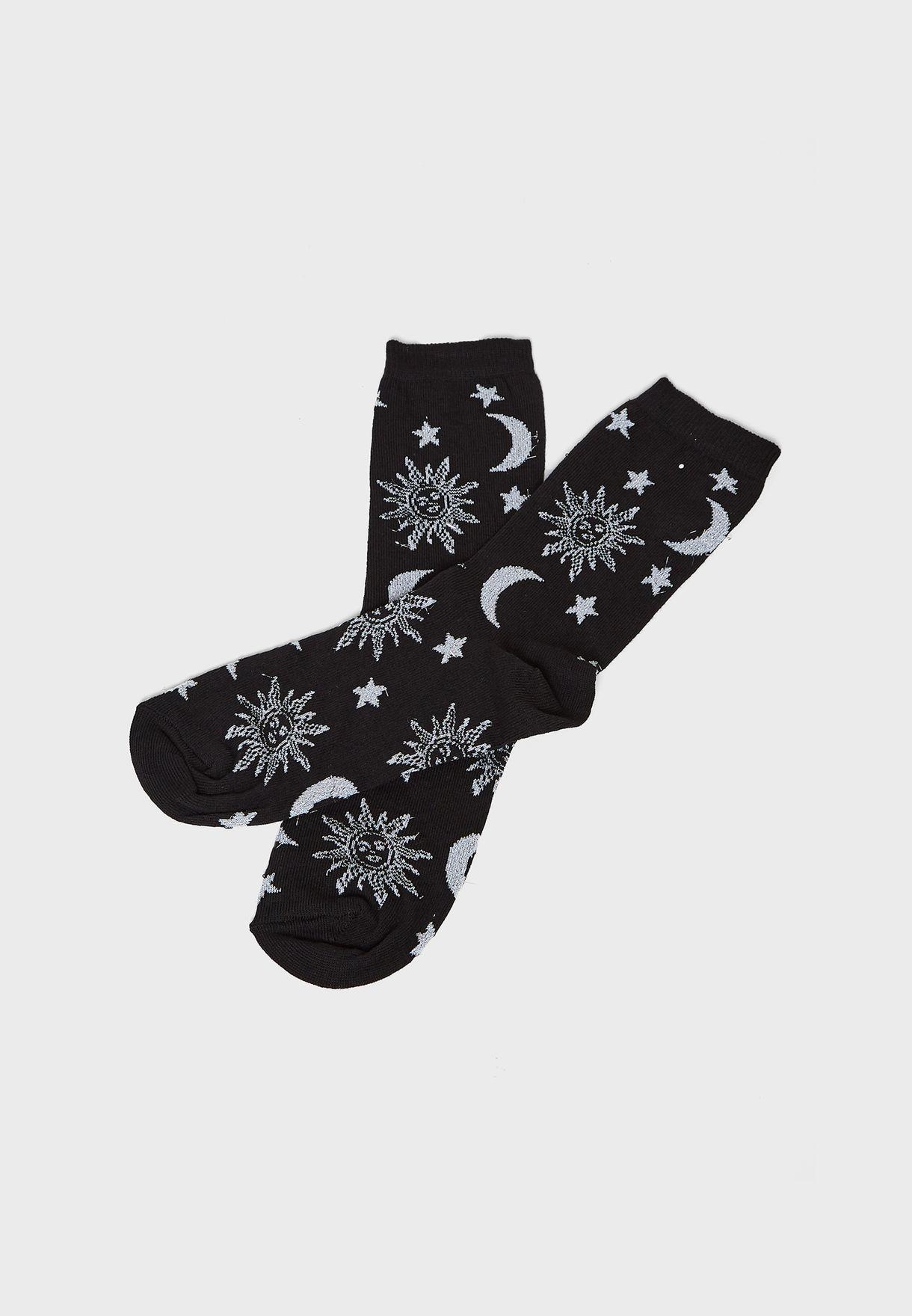 Mystic Glitter Socks