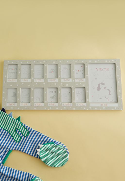 Unicorn First Year Multi Photo Frame