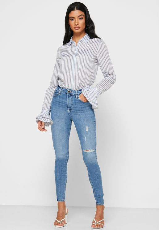 High Rise Skinny Daisy Jeans