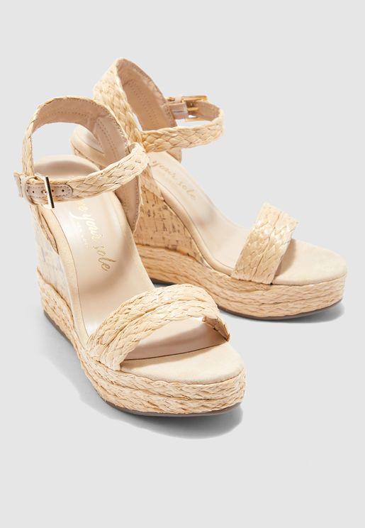 Otter Wedge Sandal - Off White