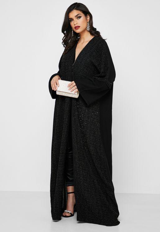 Textured Embellished Abaya