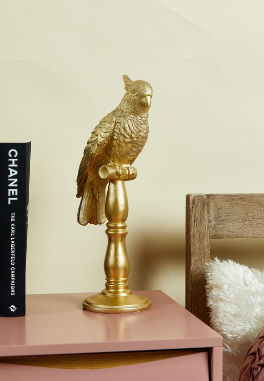 Large Gold Cockatoo Statue