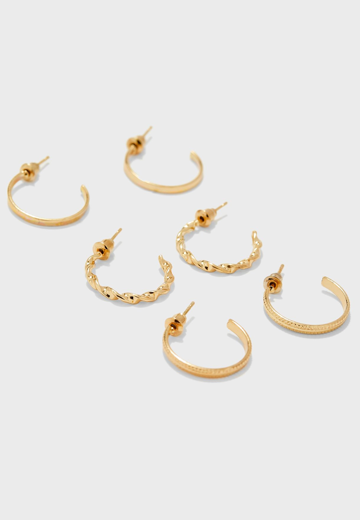 9 Pack Stud And Hoop Earrings