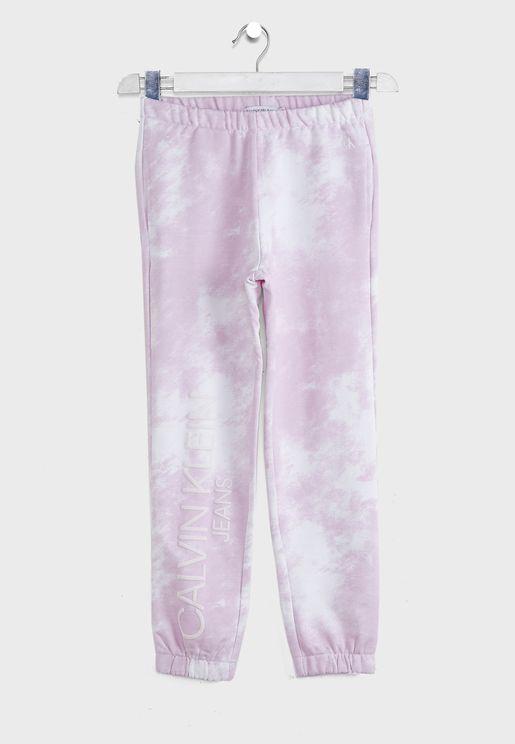 Kids Printed Sweatpants