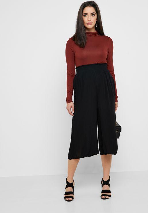 Shirred Waist Culottes